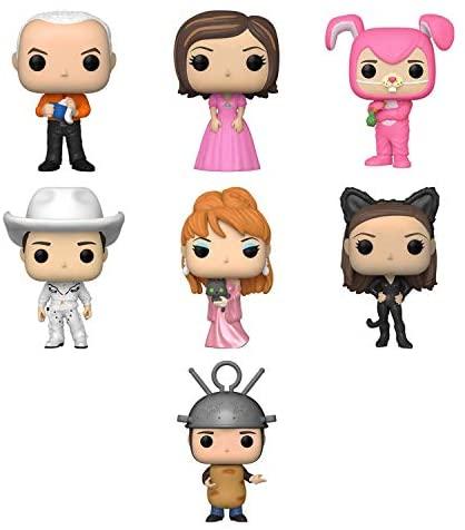Funko Pop! TV Set of 7 - Friends: Gunther, Rachel in Pink Dress, Chandler as Bunny, Cowboy Joey, Music Video Phoebe, Monica as Catwoman and Ross as Sputnik