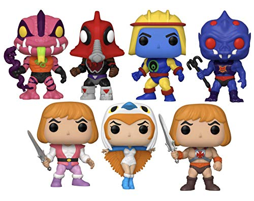 """Funko Pop! Television: Masters of The Universe Series 3 Collectible Vinyl Figures, 3.75"""" (Set of 7)"""