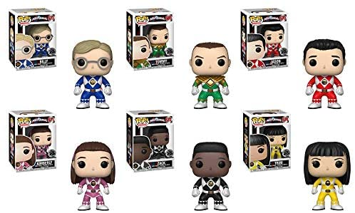 """Funko Pop! Television: Power Rangers Unmasked Series 7 Collectible Vinyl Figures, 3.75"""" (Set of 6)"""