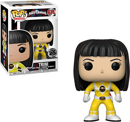Funko Pop Television: Power Rangers - Yellow Ranger (No Helmet) Collectible Figure, Multicolor, Standard