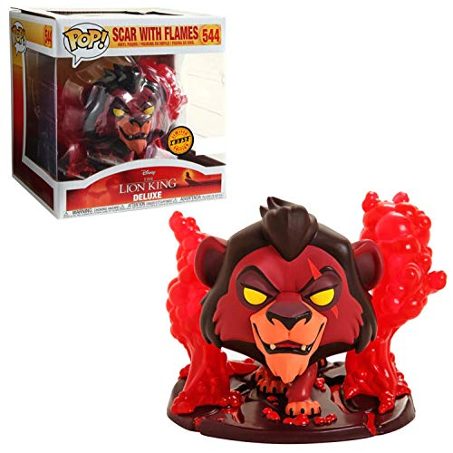 Funko Pop! The Lion King Deluxe: Scar with Flames Chase Exclusive Vinyl Figure #544