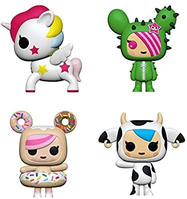 Funko Pop! Tokidoki Set of 4: Stellina, Sandy, Donutella and Mozzerella