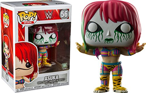 Funko Pop WWE: Asuka with White and Green Mask Collectible Figure, Multicolor