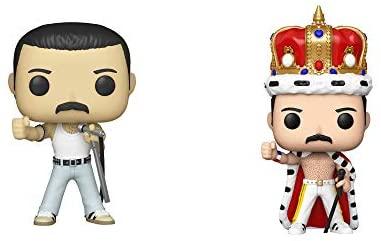Funko Rocks: POP! Queen Collectors Set - Freddie Mercury Radio Gaga 1985, News of The World Album, Freddie Mercury King