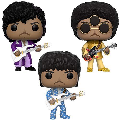 Funko Rocks: Pop! Prince Collectors Set - Purple Rain, Around The World in A Day, 3Rd Eye Girl Toy