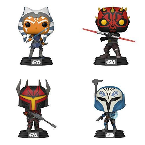Funko Star Wars: POP! Clone Wars Collectors Set - Ahsoka, Darth Maul's Captain, Darth Maul, Bo-Katan