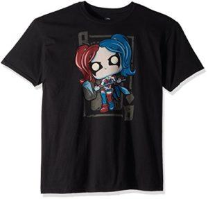 Funko Unisex-Adult's POP Tees: DC-Harley Quinn Diamond Queen, Black, Small