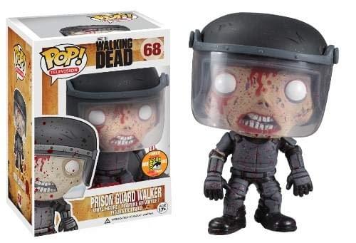 Funko Walking Dead Pop TV Prison Guard Zombie Blood Splatter Variant SDCC 2013 Exclusive