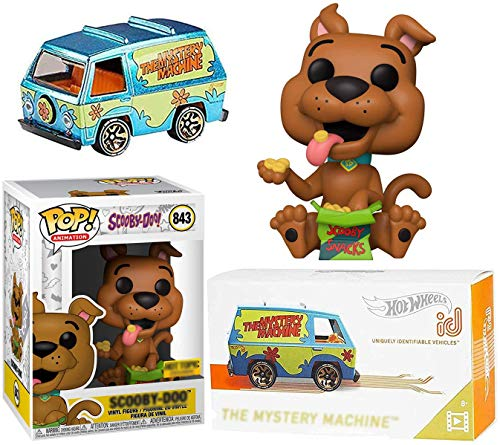 King Snack Scooby-Doo! Mystery Machine Van Pop Culture Bundled with + Vinyl Pop! Animation Figure 2-Pack #625