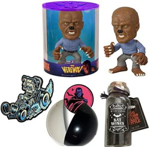 Monster Movies Figure Bundled with Frankenstein Double Demon Sticker + The Werewolf Force Horror + Universal Capsule 4 Items