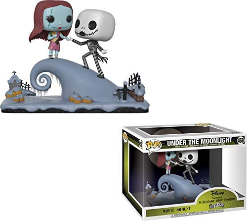 Movie Moment: Nightmare Before Christmas - Jack and Sally On The Hill Collectible Figure, Multicolor