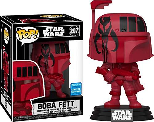 POP 2020 Wondercon Shared Exclusive Star Wars #297 Futura Boba Fett (Red)