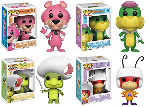 Pop! Animation: Hanna Barbera Snagglepuss, Wally Gator, and Touché Turtle, Atom Ant ! Set of 4
