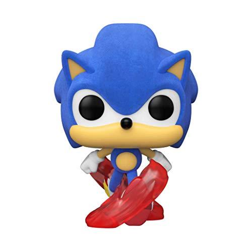 Pop Funko Sonic The Hedgehog - Classic Running Hedgehog Flocked (Exclusive) #632