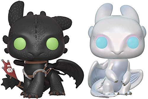 Pop! Movies: How to Train Your Dragon Toothless and Light Fury Vinyl Figures Set