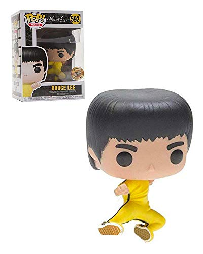 Pop Movies: Jumping Bruce Lee Collectible Figure, Multicolor