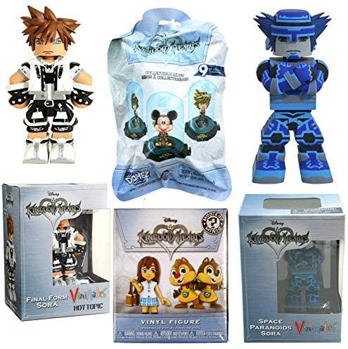Space Figure Sora Disney Character Bundled with Vinyl Figure Mystery Minis Blind Box + Paranoids Blue Sora + Domez & Final Form Player Exclusive 4 Items