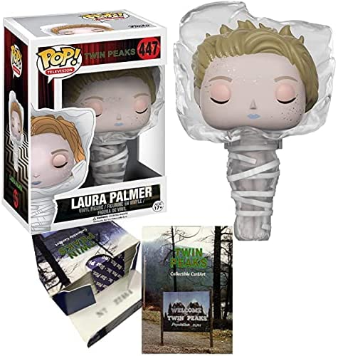 Star Art Twin Peaks TV Series Figure Laura Palmer Pop! Wrapped in Plastic Bundled with Trading Card Characters / Trivia / Images Box Set 2-Items