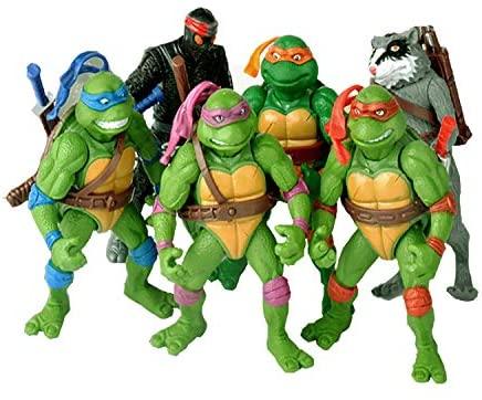 Teenage Mutant Ninja Turtles 6-Piece-Teenage Mutant Ninja Turtles Action Figure-TMNT Action Doll-Mutants, Leonardo, Raphael, Michelangelo, Donatello
