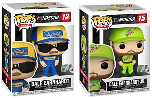 Tell Me What's Better Than The Intimidator? Him and Junior! Funko Pop! Nascar Classic 2 Pack: Dale Earnhardt (13) + Dale Earnhardt Jr. (15)