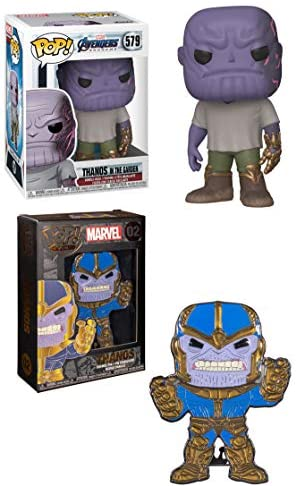 The Big Man with Big Plans is Back! Thanos Endgame Thanos Funko Pop Marvel Thanos in The Garden 579 + Pop! Pin Big Fig Thanos 02