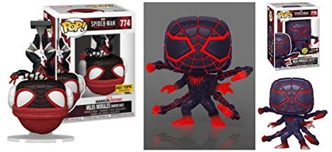 The Many Suit of Miles Funko Pop! Figure Bundle - Spider-Man Miles Morales GamerVerse Winter Suit 774 Store Exclusive/ Programmable Matter Suit 775 Store Exclusive (2 Items)