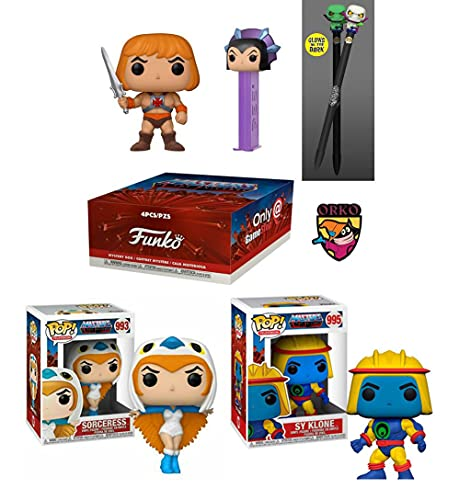 The Master of The Masters of The Universe: Funko Pop! Television Masters of The Universe -Funko Box Store Exclusive Pop, Pez, Pen, Pin/ Sy-Klone 995/ Sorceress 993