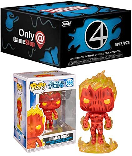 The Symboite Has Gotten to The Fantastic Four: Marvel Fantastic Four Mystery Box + Funko Marvel Fantastic Four Pop! Human Torch 559 2 Pack