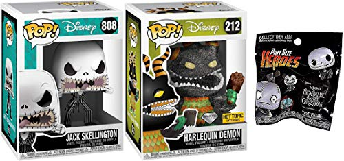 This is HallllllOOOWs EVE! Jack Skellington Disney Pop! 808 + Harlequin Demon Diamond Edtion Exclusive + Bonus Funko Nightmare Before Christmas Pocket POP!