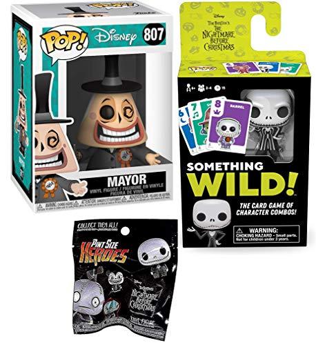 This is My Halloween-Town! The Mayor Disney Pop! 807 + Something Wild Pop! Card Game + Bonus Funko Nightmare Before Christmas Pocket POP!