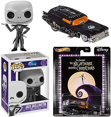 is That Jack? Nightmare Before Christmas Jack Skellington Figure Character Bundled with Halloween Town Wheels Racer Premium Car Funny Caddy 2 Items