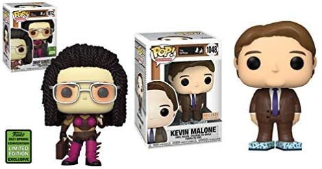 is This Real? The Office Funko Pop! Party Pack: Store Exclusive Kevin Malone Tisue Box Shoes (1048) + Convention Exclusive Dwight Schrute As Kerrigan (1072) 2 Pack Exclusive